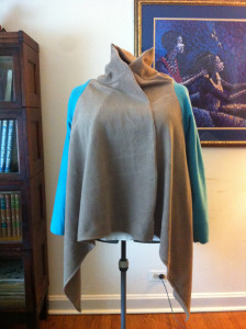 LRD Front Jacket Taupe-Aqua Collar Glow
