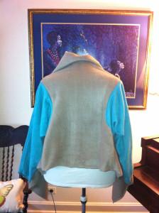 LRD Taupe-Aqua Jacket Back Glow
