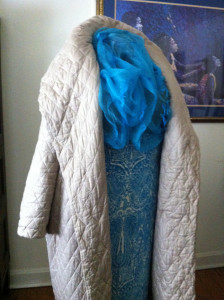 LRD Coat Scarf Jacket Semi-Side View